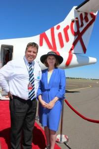 Her Excellency joins us in welcoming Virgin to Bundy