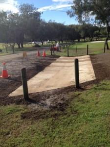 Access concrete invert