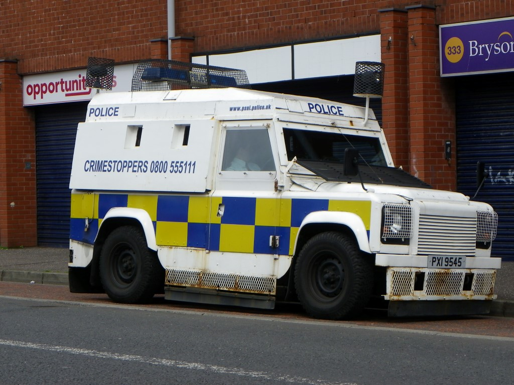 Several of these were patrolling the Shankhill Road after the funeral had passed