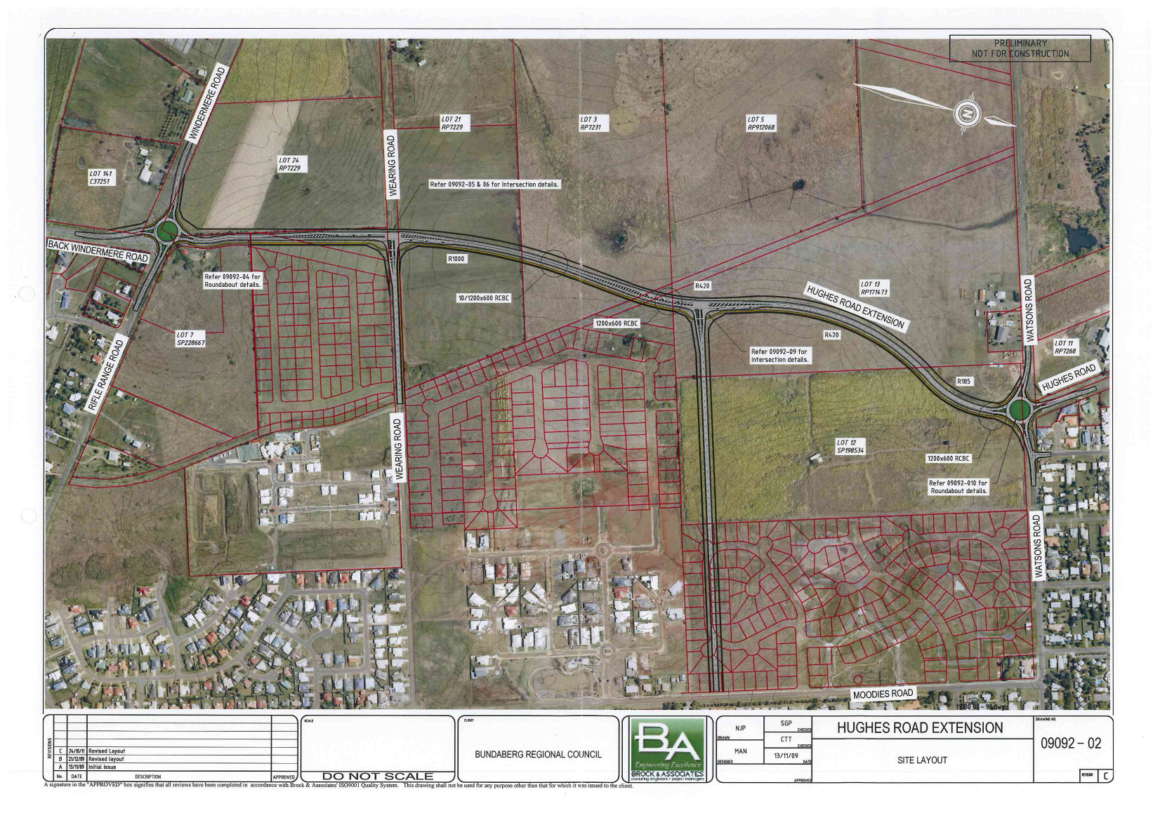 Hughes Rd Ext Alignment - Adopted by Council